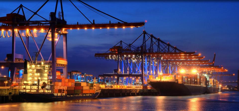 Containerabfertigung Import und Exportg